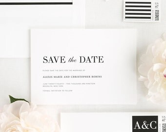Urban Glamour Save the Date - Deposit