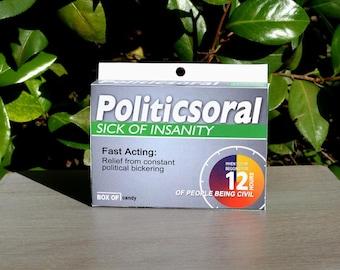 Gag Drug Box: Politicsoral! - Download & Print | Gag Gift | Wrapping Paper | Joke Box | Gag Box