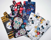 Quilted Eyeglass Case,Your Choice:Mickey & Minnie Mouse,Pepsi Cola, Coca ColaSugar Skulls or Pittsburgh Steelers,Eyeglass Pouch,Pencil Pouch