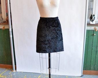 Vintage 1990s DKNY textured mini skirt