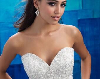 PETAL- Swarovski Bridal Earrings- Crystal Drop Earrings- Bridal Earrings- Crystal Earrings- Chandelier Bridal Earrings