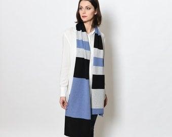 Merino wool scarf - cashmere scarf - merino scarf - colorful scarf – long scarf – knit scarf women - boho head scarf - infinity scarves