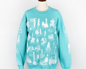 Lighthouse Sweatshirt All Over Print || Front, Back, and Sleeves! || Made in the USA