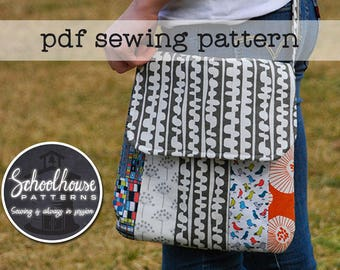 Varsity Messenger - cross body bag purse sewing pattern - PDF INSTANT DOWNLOAD