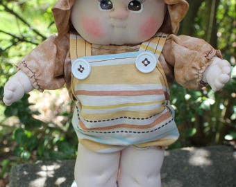 Boy Doll, Soft Sculpture, Fabric Doll, Cloth Doll, Rag Doll, Anatomically Correct Boy Doll