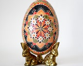Christmas gift for Ukrainian family Pysanka Ukrainian Easterd ecorated goose egg shell wonderful retirement gift Eastertraditional eggs