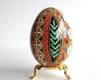 Traditional Ukrainian gift Pysanka Ukrainian Easter egg Orthodox folks love stuff like this for gifts decoration unique Christmas ornament