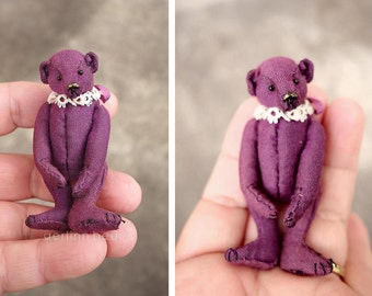 Tatty Toots, Mini Miniature Artist Teddy Bear by Aerlinn Bears