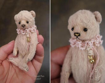 Sweet Pea, Miniature Viscose Artist Teddy Bear from Aerlinn Bears