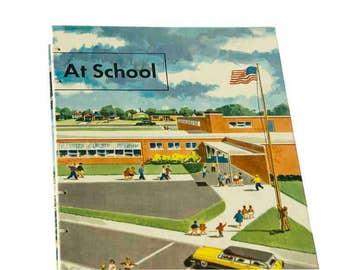 1956 AT SCHOOL Vintage Sketch Notebook Journal