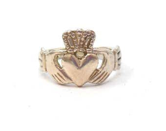 Claddagh Celtic Irish Ireland Wedding Engagement Ring Anniversary Sterling Silver Ring St. Patrick's Day