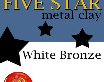 Five Star White Bronze Clay 25g kiln firable