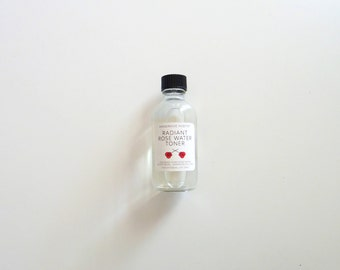 SALE Radient Rose Water Toner - 2 oz - all natural - FREE US Shipping