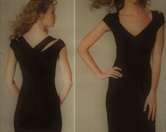 2012 Donna Karan Little Black Dress Pattern Vogue American Designer Donna Karan Collection Vogue 1280 UNCUT, Factory-Folded  Multi-Size 4-12
