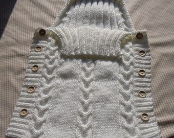 Handknitted Baby Sleeping Bag