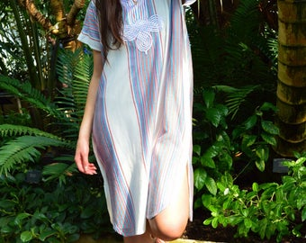 New White Bedouin Resort SHORT Tunic Caftan Kaftan - Summer dress, spring dress,beach cover ups, resortwear,loungewear, birthdays