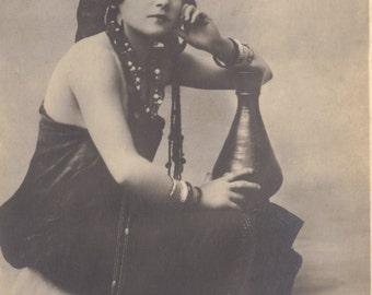 Femme Orientale, Egyptian Postcard, circa 1910