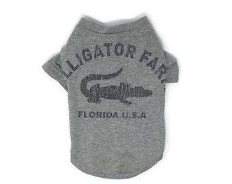 Alligator Farm Dog Tee, Florida Dog Tee, size Medium