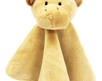 Personalized Noah's Friends Giraffe Tales of Glory Snuggly Blankie