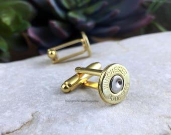 Bullet Cufflinks, Winchester 30-06 Brass Bullet Cufflinks, Wedding Cufflinks, Wedding Cuff Links, 30-06 Cuff Links, Bullet Cuff Links