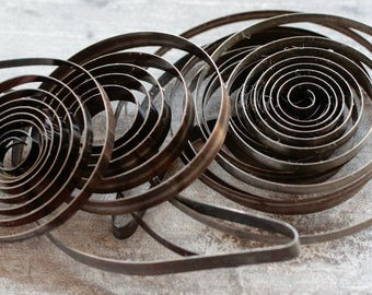 Set of 5 vintage alarm clock springs -- set of 4 -- D1