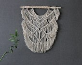 Macrame wall hanging on decorative wooden dowel - Giant - Bohemian macrame wall hanging - Handmade - Wall Art - Boho Macrame home decor