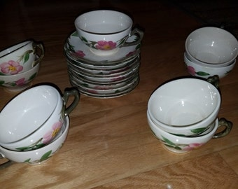 Franciscan Desert Rose cups and saucers