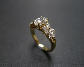 Marquise Wedding Ring Engagement Ring Diamond Ring