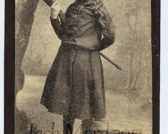 Antique Photo Female Wild West Performer / Sharpshooter w Rifle lk Annie Oakley