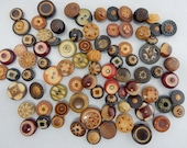 84 Vintage Fancy Carved Dyed Vegetable Ivory Buttons Lot