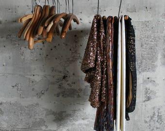 Vintage Jiffy Rak Portable Hanger for Slacks, Blouses and Trousers / Travel Hanger