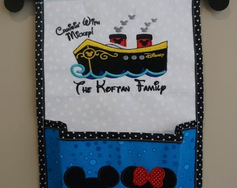 1 Pocket Fish Extender For Your Disney Cruise - Pick Colors, Top & Pocket Designs With Names