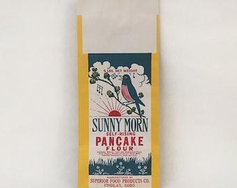 Vintage Sunny Morn Pancake Flour Bag