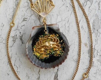 Golden Crab Shell Ocean Sea Pendant Gold Necklaces Jewelry