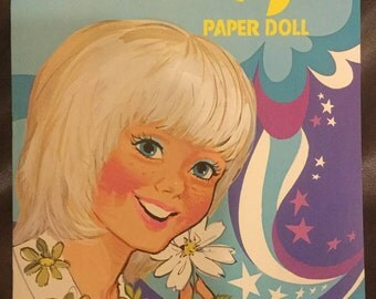 Vintage Dusty Paper Doll Book Un-used from 1975