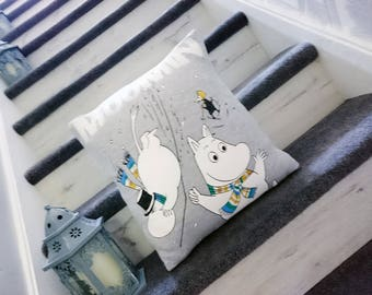 Moomin cushion, character cushion, pillow, retro, kids gift idea, stocking filler, mothers day