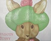 Vintage Sew and Stuff Rabbit, Boy Rabbit, Sew and Stuff Doll, Rabbit Pillow, Sew Stuff Bunny, Vintage Bunny Doll Pillow