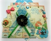Graphic 45 Come Away With Me Inspiration Kit, Embellishment Kit, Life Project Kit for Scrapbooks Cards Mini Albums Tags and Paper crafts