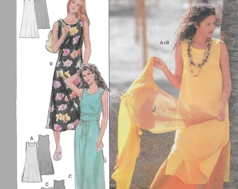 Burda 3472 Womens 80s Sun Dress Cover up and Robe Sewing Pattern Bust 31 1/2 to 40 (US)