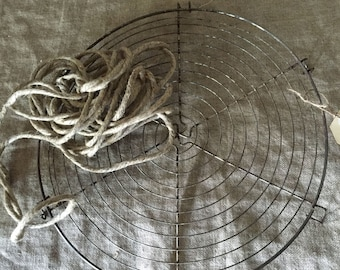 Rare large size VINTAGE FRENCH round wire cake / cooling rack. Vintage kitchen / display.