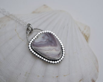Wampum Necklace   Seashell Jewelry   Seashell Necklace   Sterling Silver Necklace   Mermaid Necklace   Mermaid Jewelry
