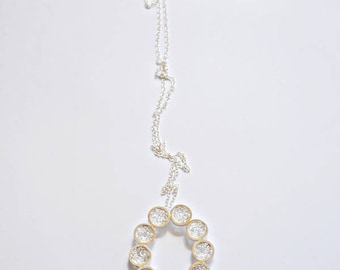 sterling silver long necklace - ROSETTE Collection