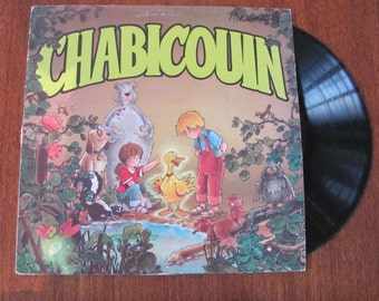 "Vintage 80's ""Chabicouin"" Children's French Vinyl Record Album - 1982 - the duck that talks - Children's French Music"