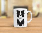 Border Collie mug, personalized custom border collie coffee mug