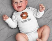 Baby clothes, Dachshund Doggone Tired baby bodysuit, baby gift