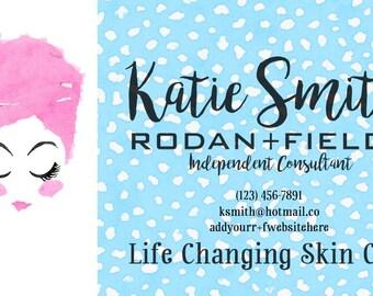 Rodan + Fields Business Cards Digital File Lash Boost Skincare