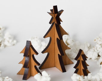 Small Set of Wooden Trees