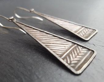 LXVII - Copper and silver earrings.  art jewellery, modern remix unique jewelry, hand crafted earrings