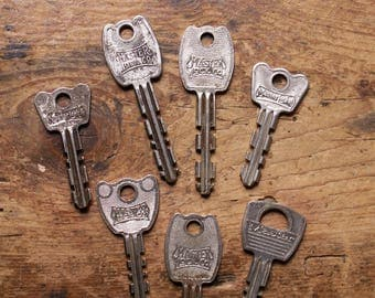 Set of 7 Vintage Master Lock Keys
