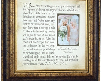 Mother of the Bride Gift, Parents Thank You, 16 X 16